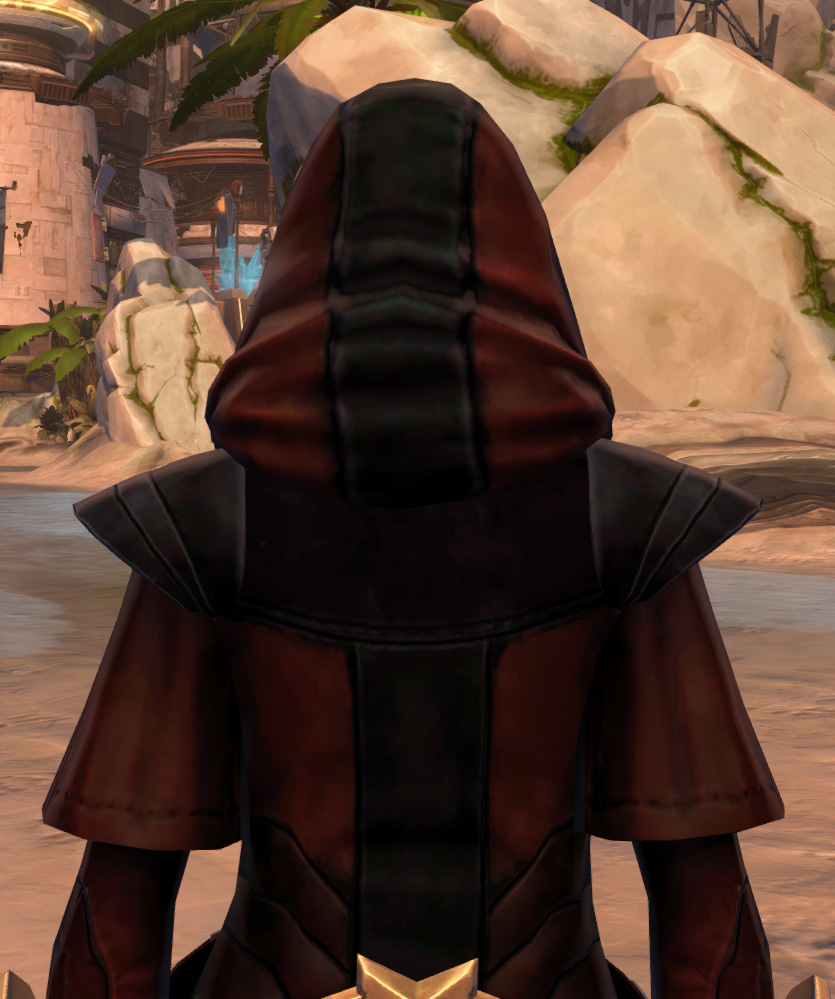 Trimantium Jacket Armor Set detailed back view from Star Wars: The Old Republic.