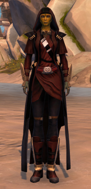 Trimantium Jacket Armor Set Outfit from Star Wars: The Old Republic.