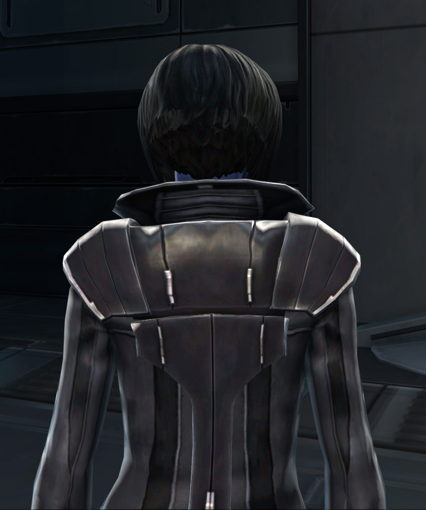 Troublemaker Armor Set detailed back view from Star Wars: The Old Republic.