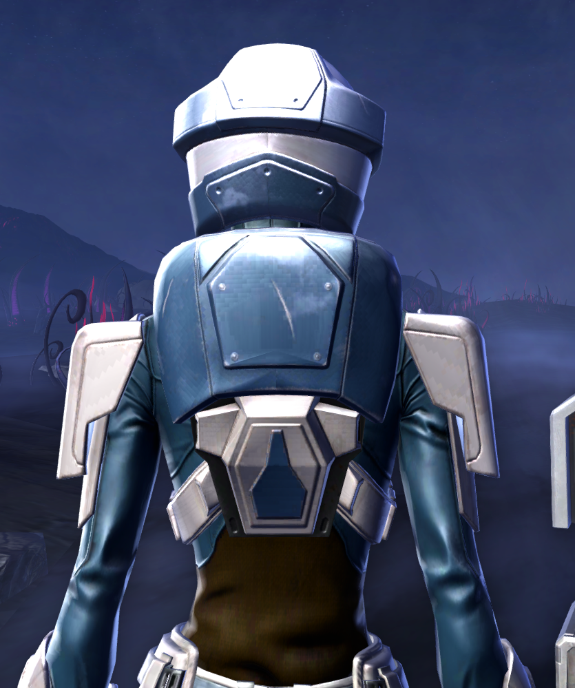 Umbaran Guardian Armor Set detailed back view from Star Wars: The Old Republic.
