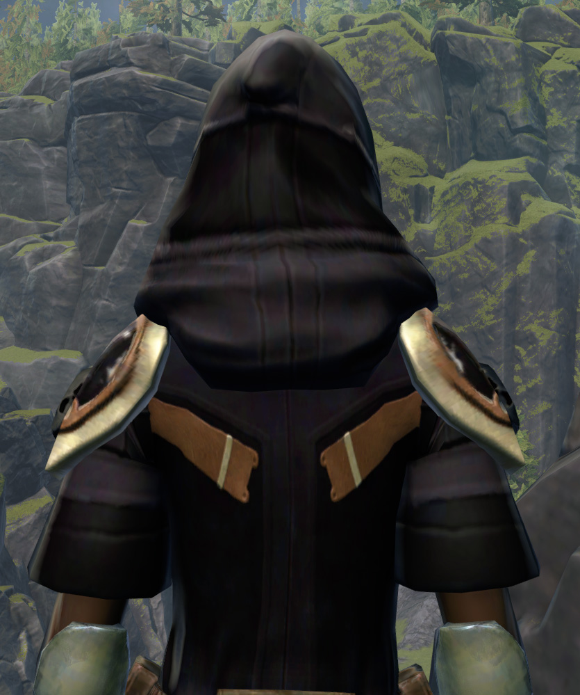 Unburdened Champion Armor Set detailed back view from Star Wars: The Old Republic.