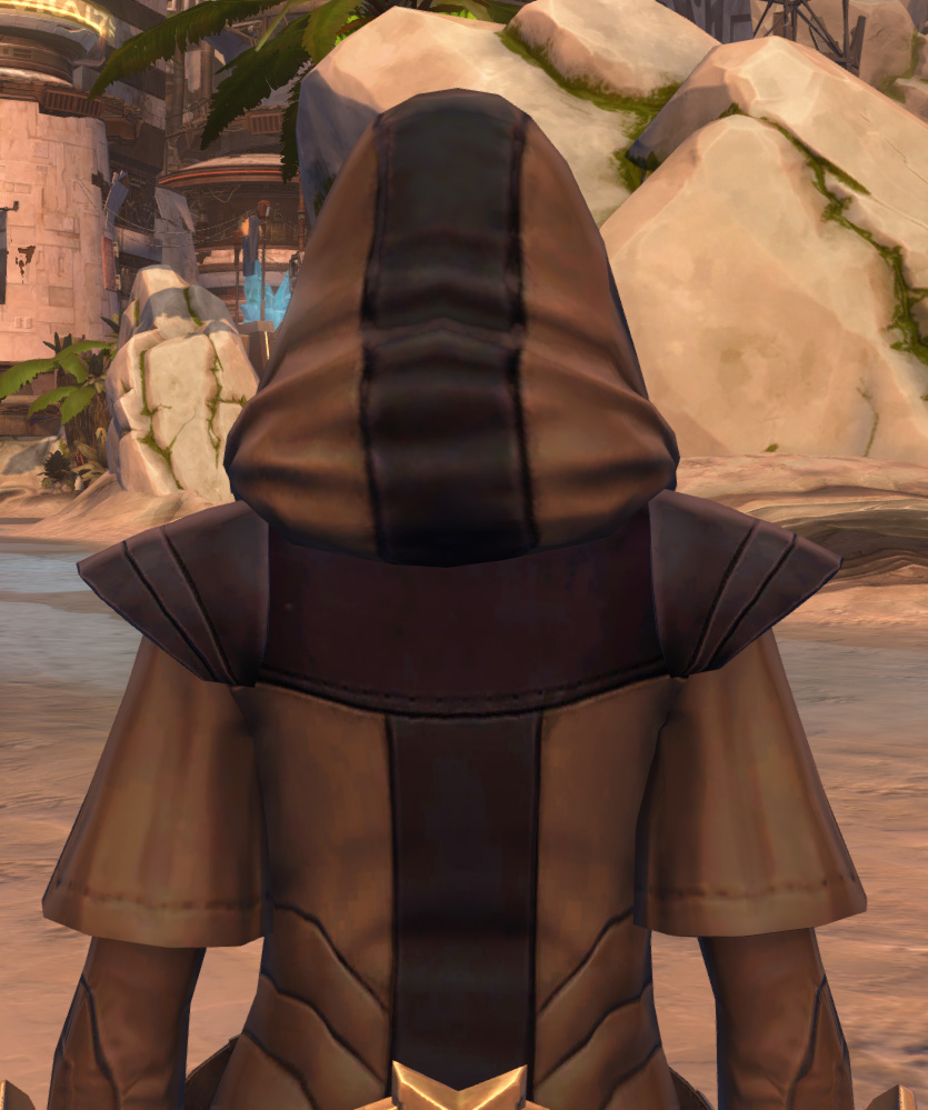 Veda Cloth Vestments Armor Set detailed back view from Star Wars: The Old Republic.