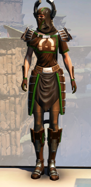 War Hero Force-Master Armor Set Outfit from Star Wars: The Old Republic.