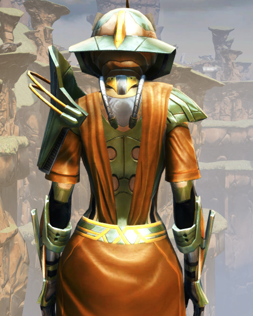 War Hero Vindicator Armor Set Back from Star Wars: The Old Republic.