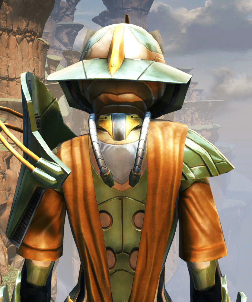 War Hero Vindicator Armor Set detailed back view from Star Wars: The Old Republic.